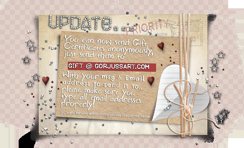 Gift Certificate Update!