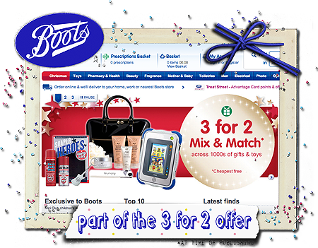 boots 3 for 2