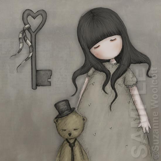 "Gorjuss ""The Heart Shaped Key"" - View ALL the Gorjuss artworks at www.SuzanneWoolcott.com"