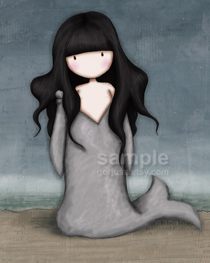 "Gorjuss ""The Selkie"" - View ALL the Gorjuss artworks at www.SuzanneWoolcott.com"