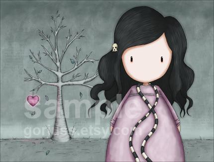 """Gorjuss """"The Wild Heart"""" - View ALL the Gorjuss artworks at www.SuzanneWoolcott.com"""