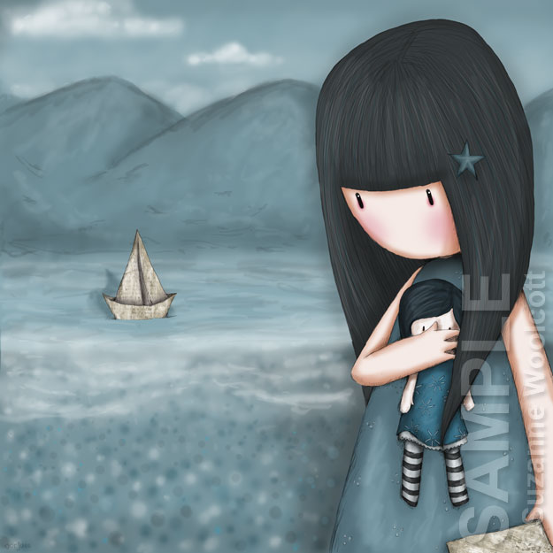 "Gorjuss ""Wee Paper Boat"" - View ALL the Gorjuss artworks at www.SuzanneWoolcott.com"